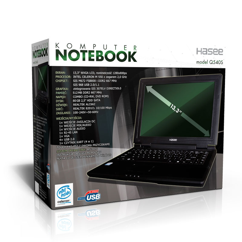 Notebook Hasse - Projekt opakowania