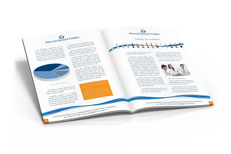 wizualizacja broszury Pernod Ricard