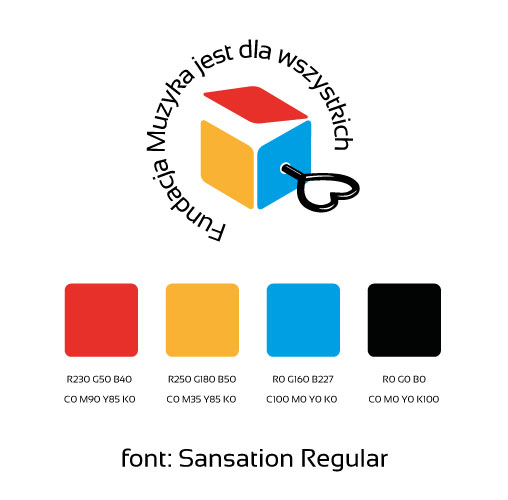 kolory CMYK i RGB (w razie potrzeby Pantone) oraz font