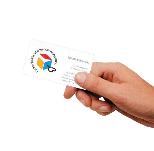 wizualizcja logo na wizytówce