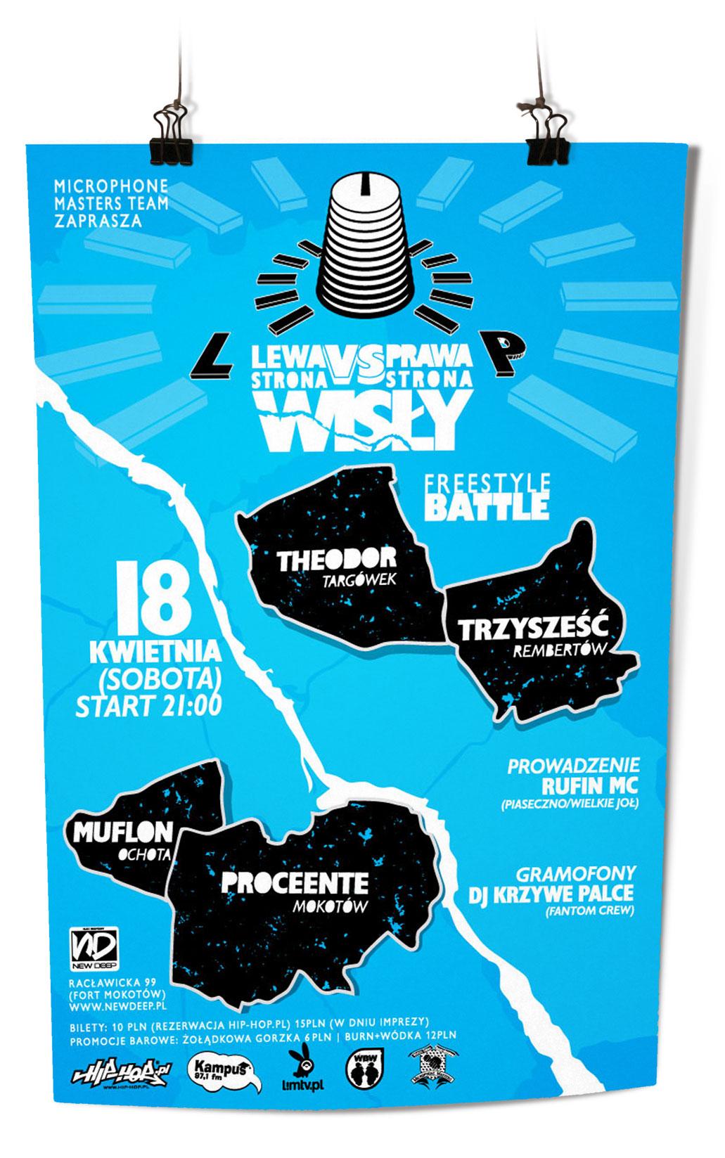 plakat Bitwa MC Prawa Lewa strona Wisły